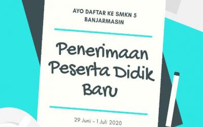 Informasi Pelaksanaan PPDB SMK Negeri 5 Banjarmasin Tahun 2020