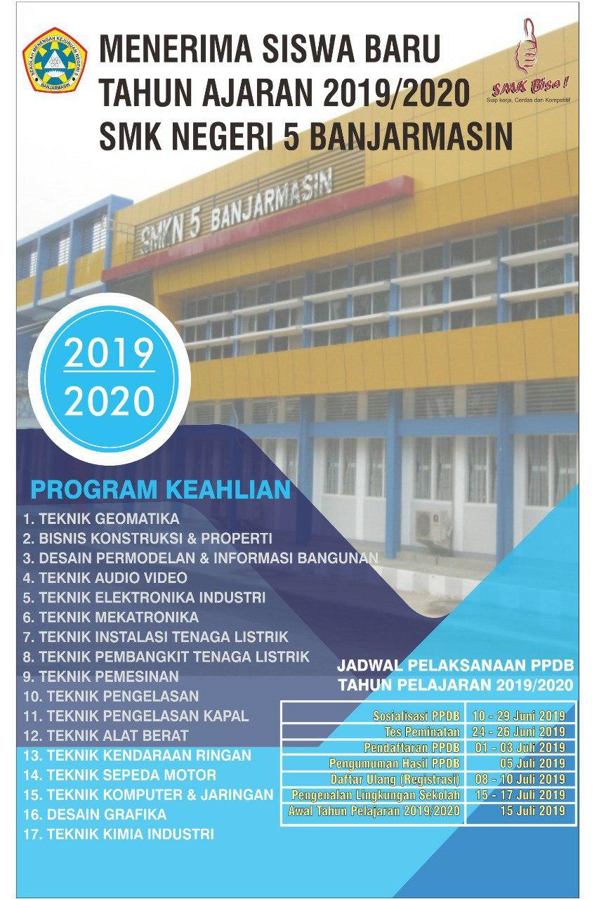 PPDB SMKN 5 Banjarmasin 2019/2020